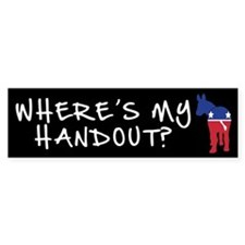 """Where's My Handout?"" Bumper Bumper Sticker"