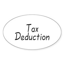 Tax Deduction Oval Decal