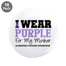 """Alzheimer's Mother 3.5"""" Button (10 pack)"""