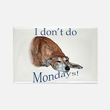 Greyhound Monday Rectangle Magnet