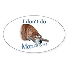 Greyhound Monday Oval Decal
