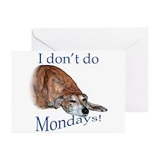 Greyhound Monday Greeting Cards (Pk of 20)