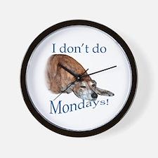 Greyhound Monday Wall Clock