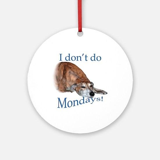 Greyhound Monday Ornament (Round)
