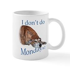 Greyhound Monday Small Mug