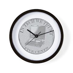 In Tech We Trust Wall Clock