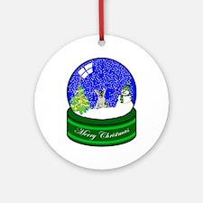 Snow Globe German Shepard Ornament (Round)