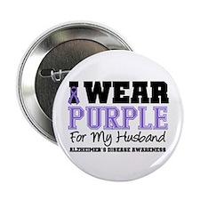 """Alzheimer's Husband 2.25"""" Button"""