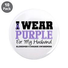 """Alzheimer's Husband 3.5"""" Button (10 pack)"""