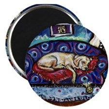 """Sleepy Yellow Lab in Seattle 2.25"""" Magnet (10 pack"""