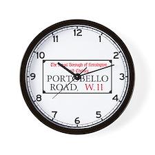Portobello Road, London Wall Clock