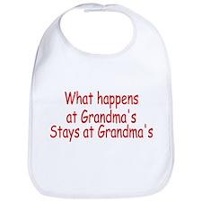 What Happens At Grandma's Stays At Grandma's Bib