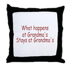 What Happens At Grandma's Stays At Grandma's Throw