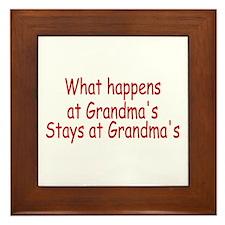 What Happens At Grandma's Stays At Grandma's Frame