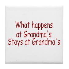 What Happens At Grandma's Stays At Grandma's Tile