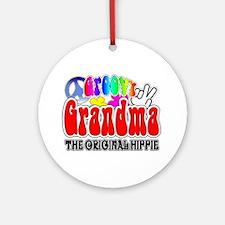 Groovy Grandma Ornament (Round)