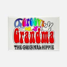 Groovy Grandma Rectangle Magnet