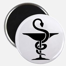 """Bowl of Hygeia - 2.25"""" Magnet (10 pack)"""