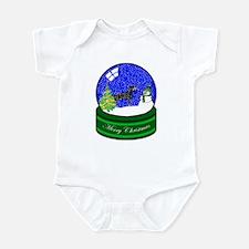 Snow Globe Doberman Infant Bodysuit