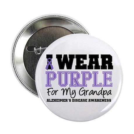 """Alzheimer's Grandpa 2.25"""" Button"""