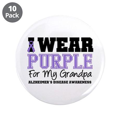 "Alzheimer's Grandpa 3.5"" Button (10 pack)"