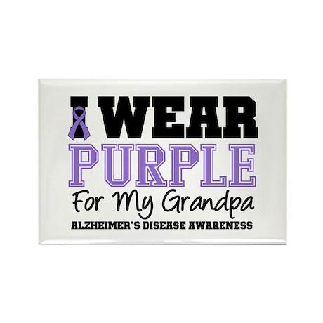 Alzheimer's Grandpa Rectangle Magnet (10 pack)