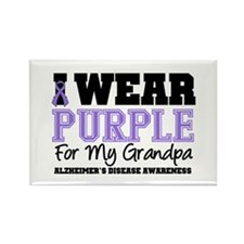 Alzheimer's Grandpa Rectangle Magnet