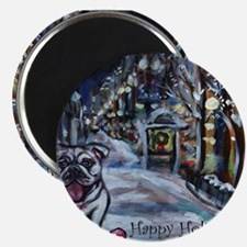 English Bulldog holiday Magnet