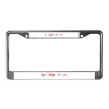Unique Bill compton License Plate Frame