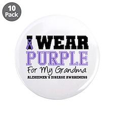 """Alzheimer's Grandma 3.5"""" Button (10 pack)"""