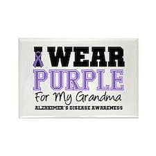 Alzheimer's Grandma Rectangle Magnet