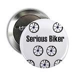 SERIOUS BIKER Button