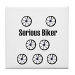 SERIOUS BIKER Tile Coaster