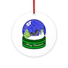 Snow Globe Dachshund Ornament (Round)