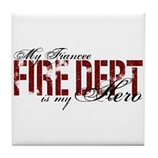 My Fiancee My Hero - Fire Dept Tile Coaster