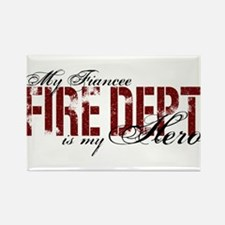 My Fiancee My Hero - Fire Dept Rectangle Magnet