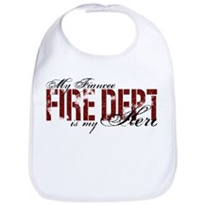 My Fiancee My Hero - Fire Dept Bib