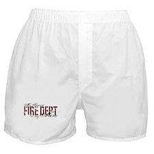 My Fiancee My Hero - Fire Dept Boxer Shorts
