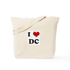 I Love DC Tote Bag
