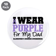 "Alzheimer's Dad 3.5"" Button (10 pack)"
