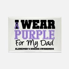 Alzheimer's Dad Rectangle Magnet