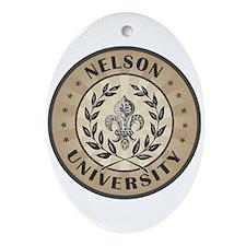 Nelson Last Name University Oval Ornament
