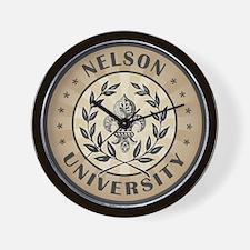 Nelson Last Name University Wall Clock