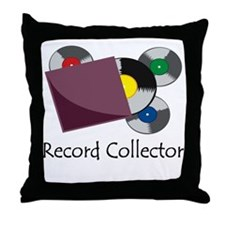 Record Collector Throw Pillow