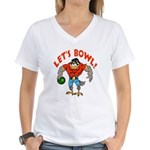 Bowling Falcon Women's V-Neck T-Shirt