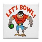 Bowling Falcon Tile Coaster
