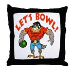 Bowling Falcon Throw Pillow