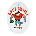 Bowling Falcon Oval Ornament
