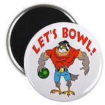 Bowling Falcon Magnet