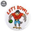 "Bowling Falcon 3.5"" Button (10 pack)"